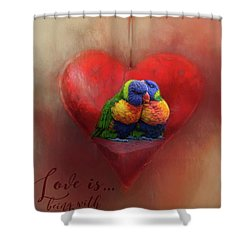 Love Is...being With You Shower Curtain