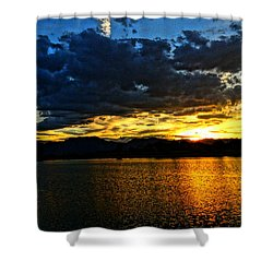 Love Lake Shower Curtain by Eric Dee