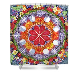 Shower Curtain featuring the painting because Love Lasts for Eternity #1 by Kym Nicolas
