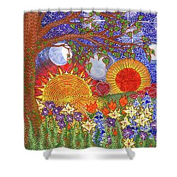 Shower Curtain featuring the painting  Because Love Lasts For Eternity #2 by Kym Nicolas