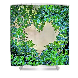 Love Leaves Shower Curtain