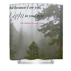 Shower Curtain featuring the photograph Love Light by David Norman