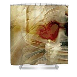 Love  Shower Curtain by Linda Sannuti