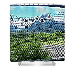 Love Locks In Moorea Shower Curtain