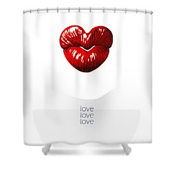 Love Poster Shower Curtain