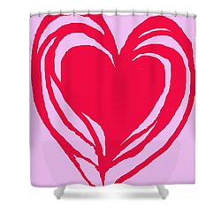 Shower Curtain featuring the digital art Love by Mary Armstrong