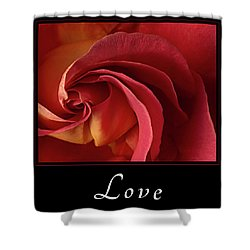 Love Shower Curtain by Mary Jo Allen