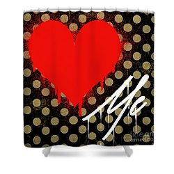 Love Me II Shower Curtain