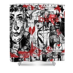 Love Me  Shower Curtain by Sladjana Lazarevic