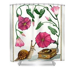 Love Music Shower Curtain by Deyana Deco