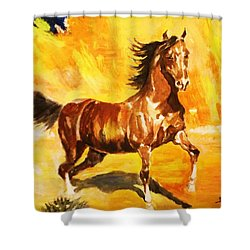 Lone Mustang Shower Curtain