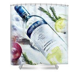 Love My Wine Shower Curtain
