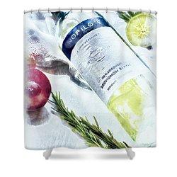 Love My Wine Shower Curtain by Pennie  McCracken