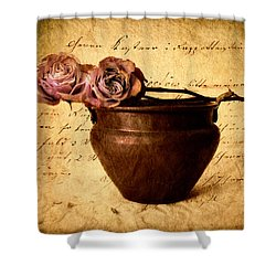 Love Notes Shower Curtain by Jessica Jenney