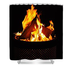 Love Of Fire Shower Curtain