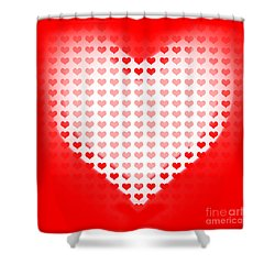 Love Of Valentines Background. Big Red Heart Shower Curtain by Jorgo Photography - Wall Art Gallery