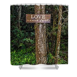 Love On A Tree Shower Curtain