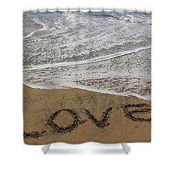 Love On The Beach Shower Curtain by Heidi Smith