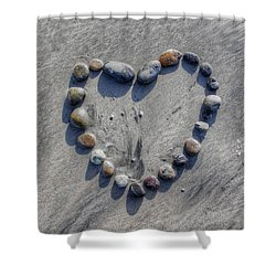 Love On The Rocks Shower Curtain by Jane Linders