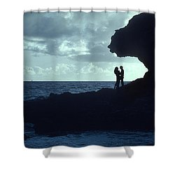 Love On The Rocks Shower Curtain