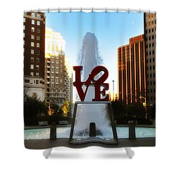 Love Park - Love Conquers All Shower Curtain