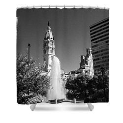Love Park Over Looking City Hall Shower Curtain