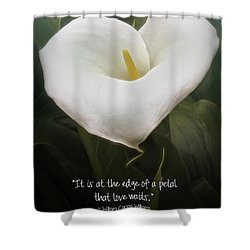 Shower Curtain featuring the photograph Love by Peggy Hughes