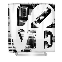 Love Philadelphia White  Shower Curtain