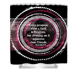Love Prospers Shower Curtain