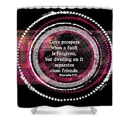 Love Prospers II Shower Curtain