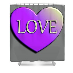 Love Purple And Yellow Shower Curtain