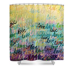 Shower Curtain featuring the painting Love Reigns by Lisa DuBois
