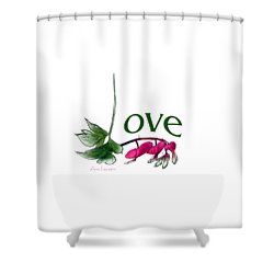 Love Shirt Shower Curtain by Ann Lauwers