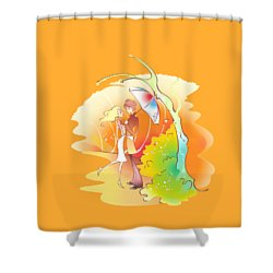 Love Shower T-shirt Shower Curtain
