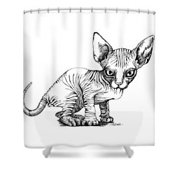 Love Sphynx Shower Curtain