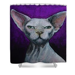 Love Sphynx Cat Shower Curtain