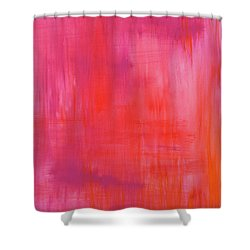 Love Starts Here Shower Curtain