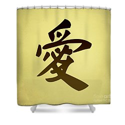 Love Shower Curtain by Teresa Zieba