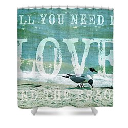 Shower Curtain featuring the photograph Love The Beach by Jan Amiss Photography
