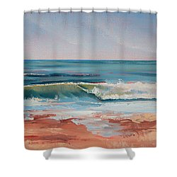 Love The Surf Shower Curtain by Trina Teele