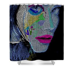 Shower Curtain featuring the digital art Love The Way You Look by Rafael Salazar