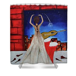 Shower Curtain featuring the painting Love To Dance 002 By Saribelle Rodriguez by Saribelle Rodriguez