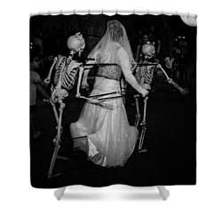 Love Until Death And After Shower Curtain