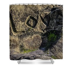 Love Written In Stone Shower Curtain