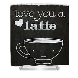 Love You A Latte Shower Curtain