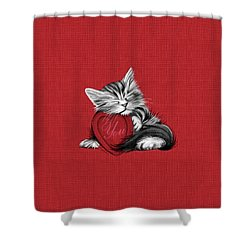 Love You Shower Curtain by Cindy Anderson