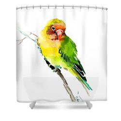 Lovebird Shower Curtain
