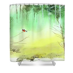 Lovebirds 3 Shower Curtain