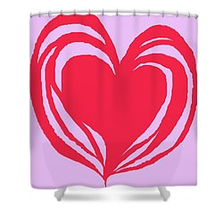 Shower Curtain featuring the digital art Loveheart by Mary Armstrong