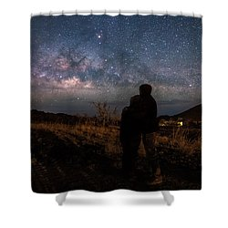 Loveing The  Universe Shower Curtain